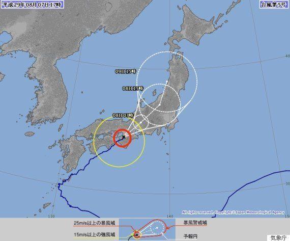 【台風5号】東日本へ 動き遅く影響は長引く見込み