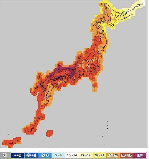 大阪で38度の予想、8月6日は全国的に猛暑日