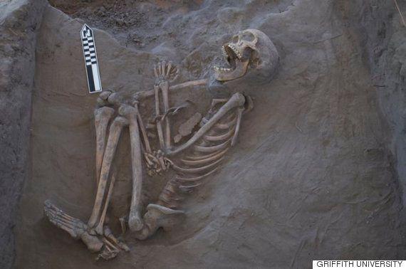 ブーメランが頭に刺さって死亡か 13世紀の男性の遺骨から判明