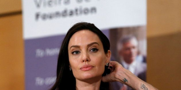 U.S. Actor and UNHCR Special Envoy Angelina Jolie attends a conference at the United Nations in Geneva,...