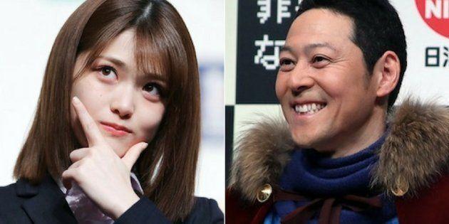 松村沙友理(左)、東野幸治