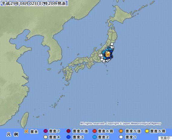 【地震情報】茨城・栃木・埼玉などで震度4 震源は茨城南部、津波の心配なし
