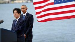 安倍首相が真珠湾訪問 オバマ大統領と慰霊「日本国民を代表して花を投じた」