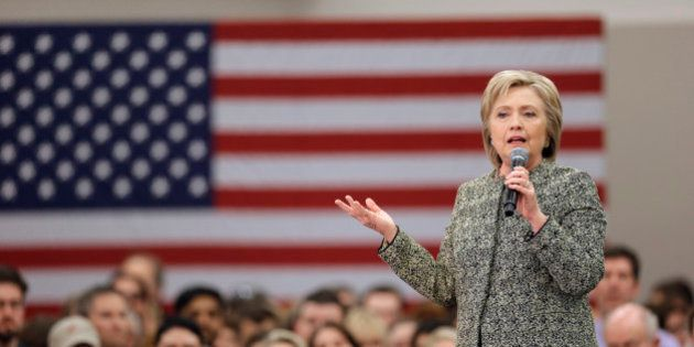 Democratic presidential candidate Hillary Clinton speaks at Meharry Medical College Sunday, Feb. 28,...