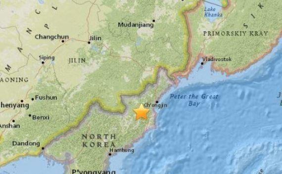 北朝鮮で揺れを観測「核実験の可能性」