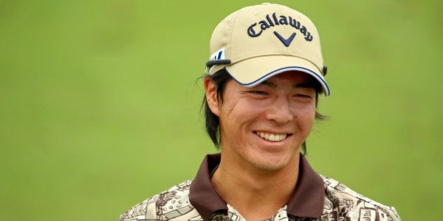 LOUISVILLE, KY - AUGUST 05: Ryo Ishikawa of Japan smiles during a practice round prior to the start of...