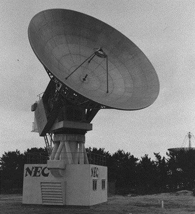東京1964年オリンピック・パラリンピックで電波を送ったパラボラアンテナ