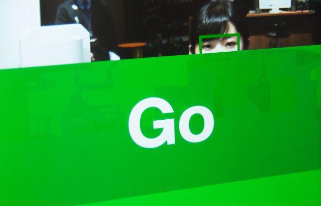 Goのサインが出る。通常の歩く速さで通過できる。