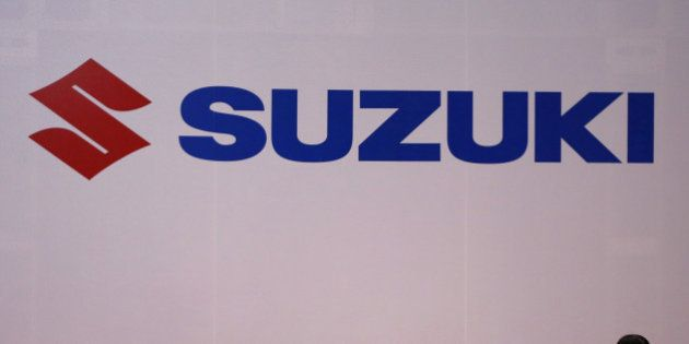 The logo of Suzuki Motors is displayed at the 44th Tokyo Motor Show in Tokyo, Japan, November 2, 2015....