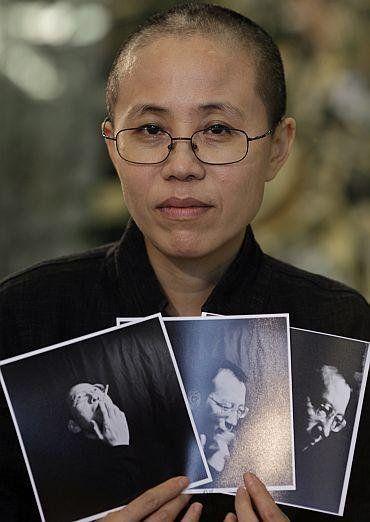 中国:ノーベル賞受賞者の妻、「失踪」懸念