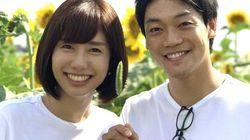 山崎夕貴アナとおばたのお兄さん、2ショットを公開 「以上、ボケ、なし!!」