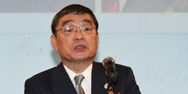 TOKYO, JAPAN - JULY 07: NHK President Katsuto Momii attends the Hoso Bunka Foundation Prize on July 7,...