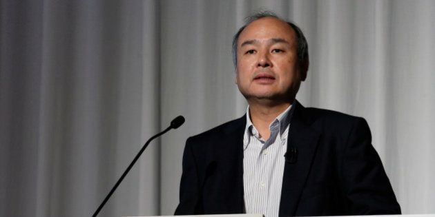 SoftBank Group Corp. Chairman and CEO Masayoshi Son speaks during an earnings briefing in Tokyo, Japan,...
