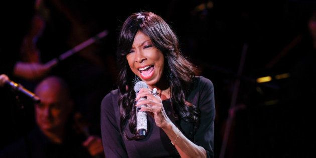 Singer Natalie Cole performs