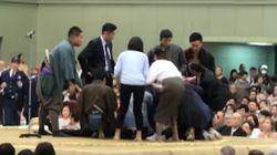舞鶴市「女性にお礼を伝えたい」土俵で救命措置 くも膜下出血で倒れた市長に