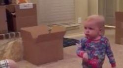 「私のおもちゃで遊ばないで!」赤ちゃんがお父さんに何度も説教する(動画)