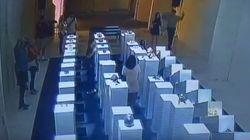 美術館で自撮り⇒転倒して2200万円の作品を破損⇒作者が大人のコメント