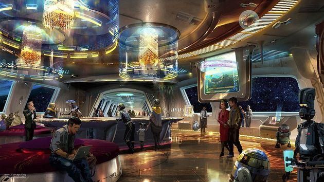 「スターウォーズ」ホテル、ディズニーが発表 窓からは宇宙しか見ることができない!?