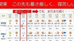 【天気情報】三連休も暑さ猛烈な関東 猛暑のピークは?