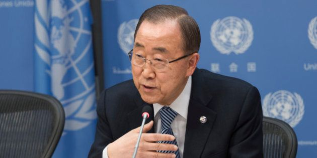 UN HEADQUARTERS, NEW YORK, NY, UNITED STATES - 2016/12/16: United Nations Secretary-General Ban Ki-moon...