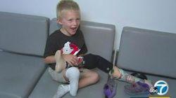 義足を盗まれた4歳少年に心温まるプレゼント 支援の輪が広まる