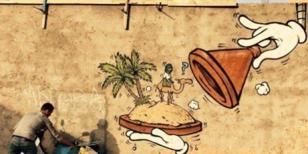 ストリートアーティストJace氏がモロッコに登場(画像集)