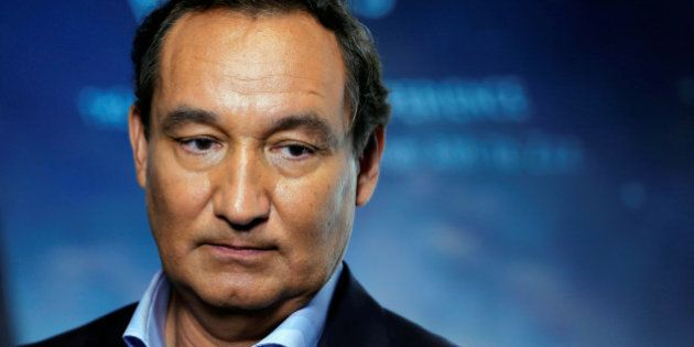 Chief Executive Officer of United Airlines Oscar Munoz introduces a new international business class...