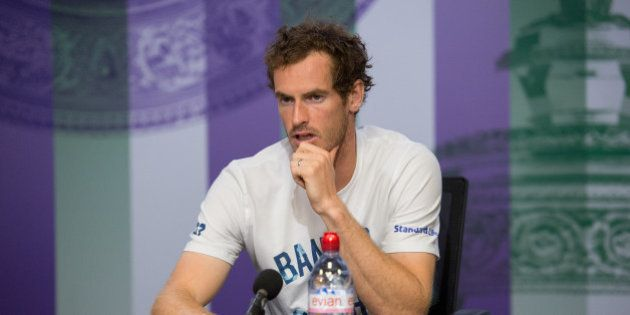 Tennis - Wimbledon - London, Britain - July 12, 2017 Great Britain's Andy Murray during a press conference...