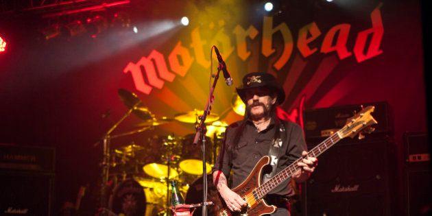 CHARLOTTE, NC - SEPTEMBER 23: Singer/bassist Lemmy Kilmister of Motorhead performs at The Fillmore Charlotte...