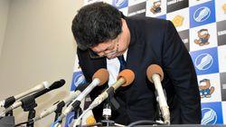 声震わせ...滋賀県警幹部が会見で謝罪 警官死亡事件で
