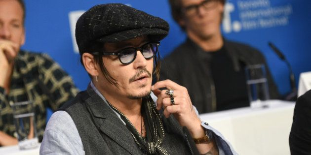 Actor Johnny Depp attends the press conference