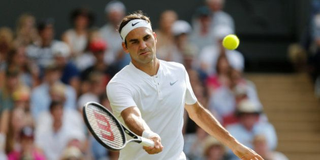 Tennis - Wimbledon - London, Britain - July 4, 2017 Switzerland's Roger Federer in action during his...