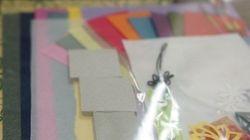 三角パズルに挑戦 韓紙工芸体験に参加してきました