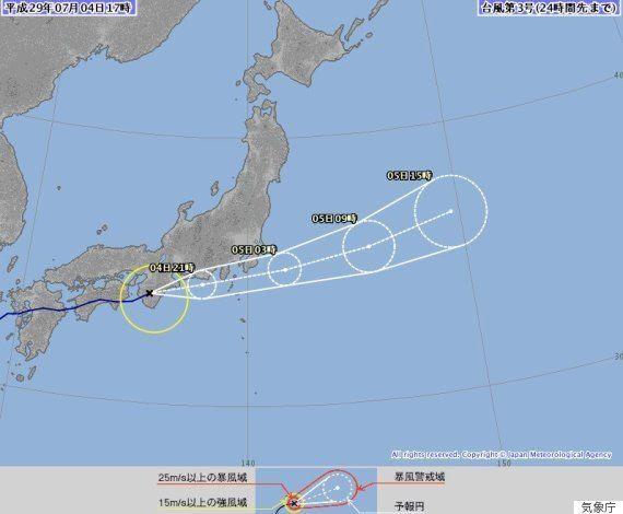 台風3号、関東に雨雲かかるのはいつごろ?