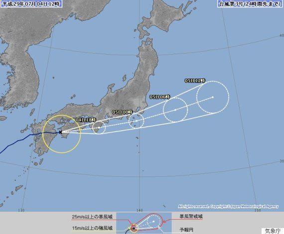 台風3号、九州を通過して四国上陸 いつ関東接近?