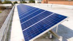太陽光発電設備 公立小中学校の4校に1校に