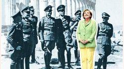 ナチスに取り囲まれるメルケル首相 週刊誌の表紙に「恥を知れ」の声も