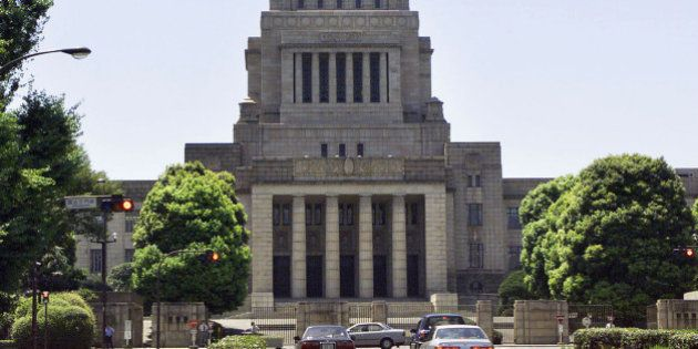 An exterior view of the Japanese Diet (parliament) building in Tokyo August 1,