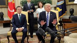 トランプ氏、韓国報道陣を叱る「おい君たち、落ち着け」