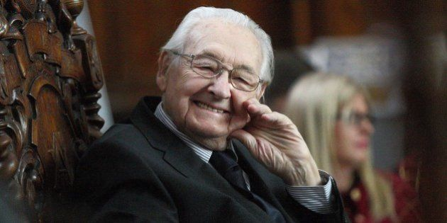 Gdansk, Poland 12th, March 2016 Director Andrzej Wajda became Honour Citizen of city of Gdansk during...