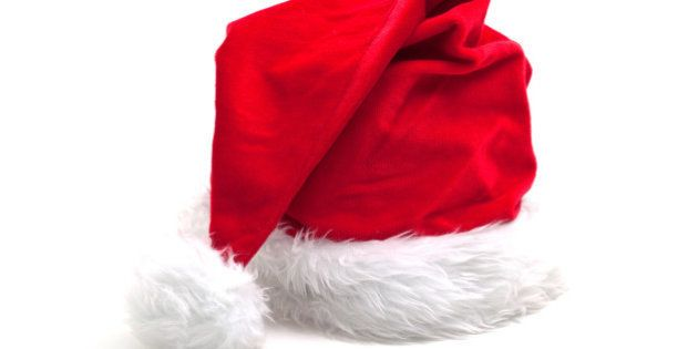 Santa Claus hat ona a white