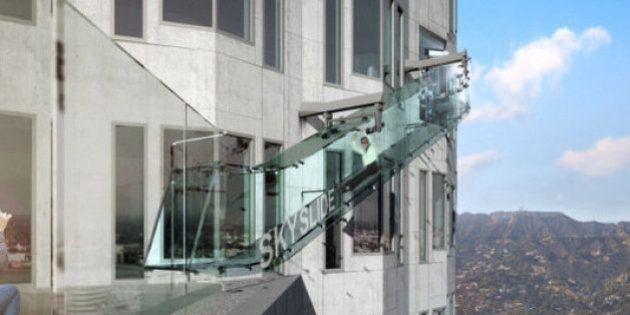 恐怖の「ガラス製すべり台」、地上300メートル・70階に設置へ【画像】