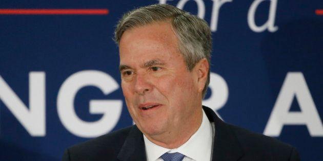 Republican presidential candidate, former Florida Gov. Jeb Bush speaks at his South Carolina Republican...