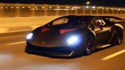 サーキット専用車両、ランボルギーニ「セスト・エレメント」がまさかの高速道路を爆走(動画)