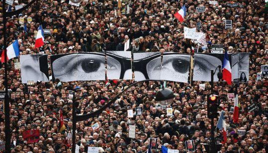 【パリ銃撃】フランス史上最大のデモ「今日、パリは世界の首都になる」(画像)