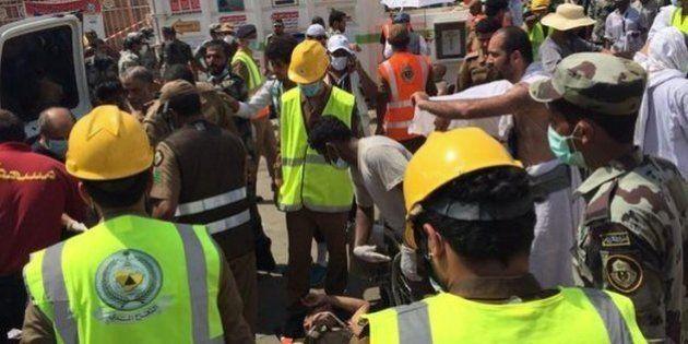サウジアラビアの聖地メッカ郊外でイスラム教巡礼者が殺到、717人死亡 混乱の現場写真