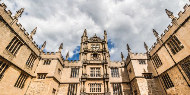 The Bodleian Library at the University of Oxford in Great Britain in