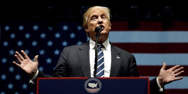 U.S. President-elect Donald Trump speaks at