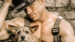 セクシーな消防士が、素肌をさらけだして動物愛護を訴える(画像)
