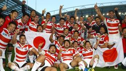 ラグビーワールドカップ、日本が優勝候補の南アフリカに劇的勝利